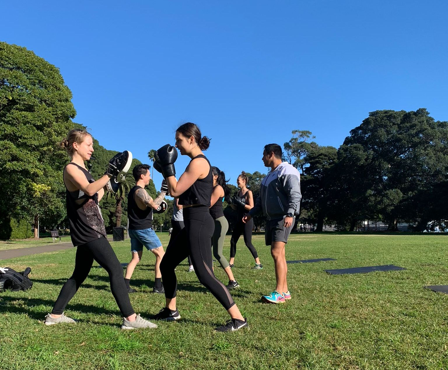 outdoor boxing class hiitboxing